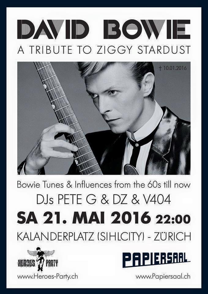 David Bowie Tribute Party Papiersaal Zürich 21.5.2016